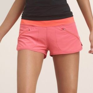 PARKLIFE Neon Coral Athletic Sport Shorts